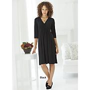 Pocket Surplice Dress