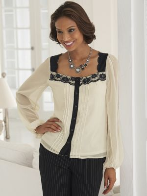 Sweetheart Lace Blouse