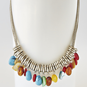 southwest nugget short necklace