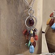 southwest nugget long pendant