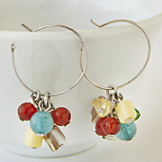 southwest nugget hoop earrings