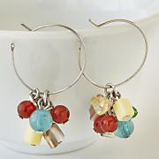 southwest nugget hoop earrings