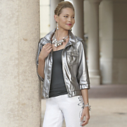 Metallic Jacket Faux Leather