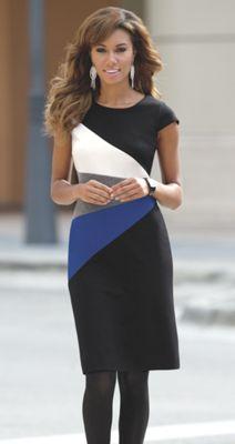 Fan Colorblock Dress