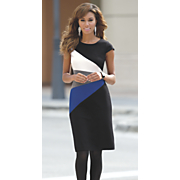 fan colorblock dress 38