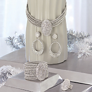 Crystal Pave Oval Jewelry