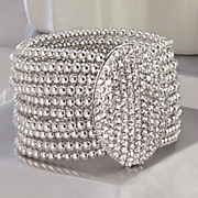 Crystal Pave Oval Stretch Bracelet