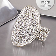 Crystal Pave Oval Stretch Ring
