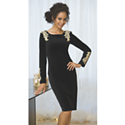 Gold Applique Dress 1