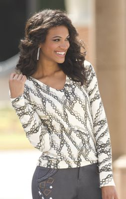 Chain Print Pullover