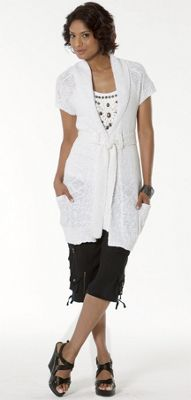 Uptown/Downtown Embellished Tank, Light Sweater Vest & Silk Crop Pant