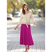 Bright Denim Skirt