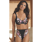 Minimizer Bra by Valmont and Embroidered Hi Cut Panty Brief