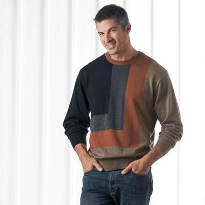 Crew Color Block Sweater