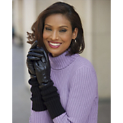 Leather Gloves with Long Cuffs