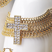 crystal cross bracelet