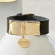 name metal strap bracelet