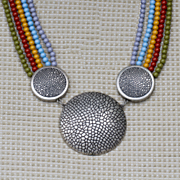 Multi Strand Medallion Necklace