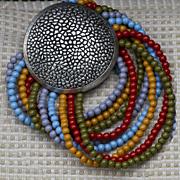 Multi Strand Medallion Bracelet