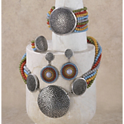 Multi-Strand Medallion Jewelry