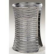 Bold And Beautiful Silvertone Cuff