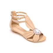 Flower Wedge Sandal