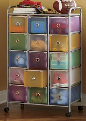 15-Drawer Colorful Storage Cart