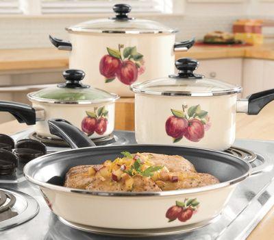 Ginny's Brand  7-Piece Apple Cookware Set