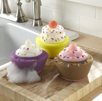 Set of 3 cupcake sponges from ginny 39 s jf60246 for Spong kitchen set 702