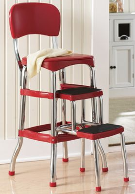 Counter-Height Retro Step Stool