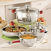 Ginny's Brand 7-Piece Stainless Steel Cookware Set