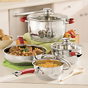 Ginnys Brand 7 pc Stainless Steel Cookware Set