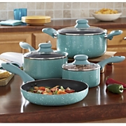 ingird hoffman 7 piece delicioso casa balboa nonstick cookware set
