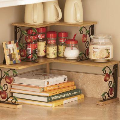 Apple Double Corner Shelves