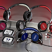 Folding DJ Headphones and Earbud Combo Pack by Sentry