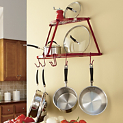 2 tier half moon wall rack
