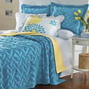 Geometric Solid Chenille Bedspread