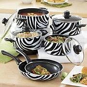 Ginny's Brand Animal Print Nonstick Aluminum Cookware Set