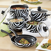 ginny s brand animal print nonstick aluminum cookware set
