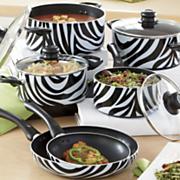 ginny s brand animal print nonstick aluminum cookware set