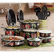 Ginny's Brand Midnight Apple Cookware Set