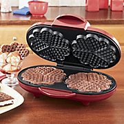 ginny s brand double heart waffle maker