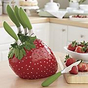6 piece strawberry knift set