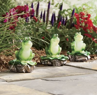 Set of 3 Solar Frogs