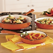 3-Piece Enamel Cast Iron Skillet Set