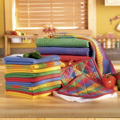 18-Piece Rainbow Kitchen Towel Set