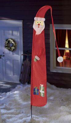 Tasselled Santa Banner