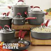 Rachael Ray Red 14 Piece Cookware Set