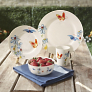 16 piece butterfly dinnerware set