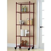 5 Shelf Metal Rolling Tower